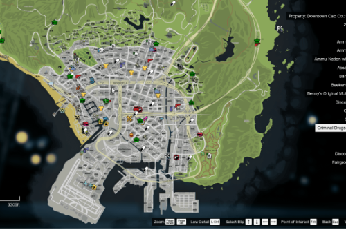 Robbable 24/7 Store Locations - GTA5-Mods com