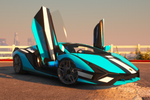 Stripe Livery for Rmod Customs Lamborghini Sián FKP 37