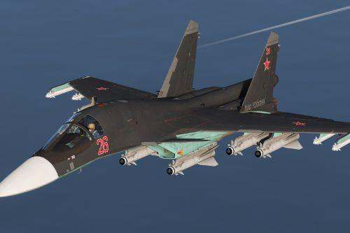 Su-34 Fullback [Add-On | Custom Weapons]