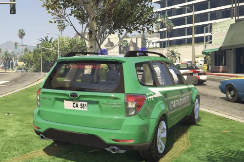 Subaru Forester Carabinieri Forestali