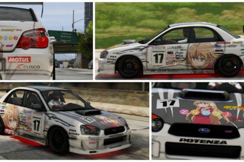 """痛車 """" とらドラ 逢坂大河"""" Subaru Impreza WRX STI"""