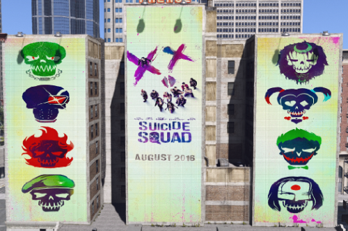 Suicide Squad Billboard in Downtown