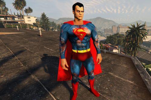 Superman BvS Injustice 2 - Retexture - BATTLE DAMAGE