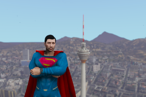 Superman costume for Male MP Ped