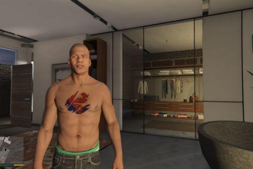Superman tattoo 3D