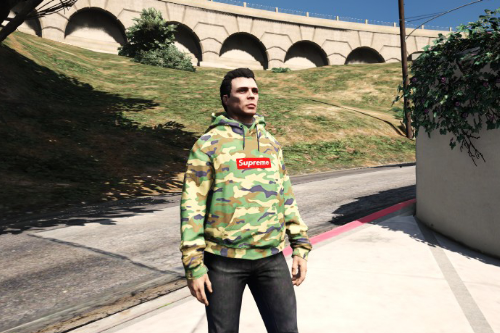 Supreme Camo Sweatshirt for MP Male (Readme Included)