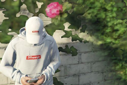 Supreme Content Cop Sheep Hoodie and Strapback (idubbbz)