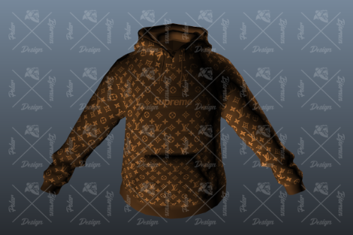 Supreme & Lv Box Hoodie for MP Male [Brown][SP / FiveM]