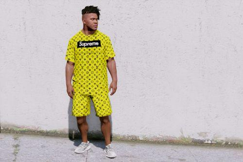 Supreme/Louis Vuitton T-Shirt-Shorts / Franklin