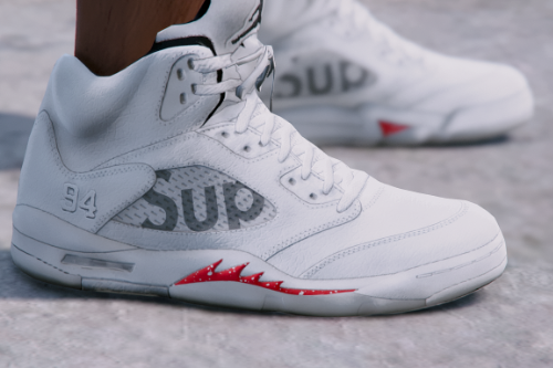 Supreme x Jordan 5 - Camo/White/Black