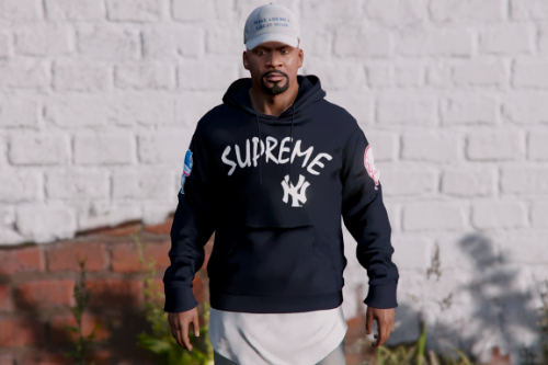 Supreme x NY Yankee's - Pullover hoodie