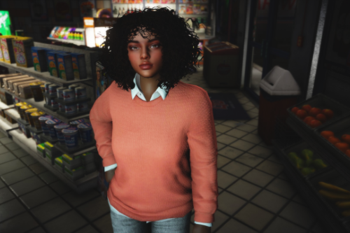 Sweater with Collared Shirt for MP Female