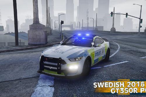 2016 Mustang GT350R | Swedish Police Paintjob