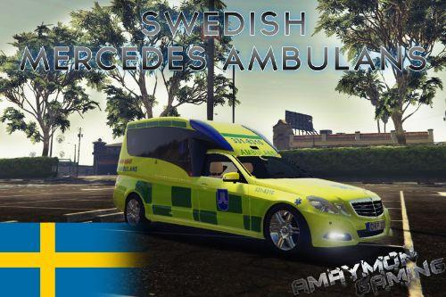 Swedish Ambulance Mercedes E-Class