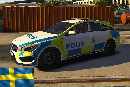 Swedish Mercedes benz CLA 45 amg Police