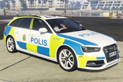 Swedish S4 Audi 2013 Police car