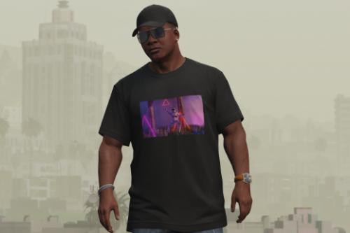 Synthwave (Vaporwave) T-shirt for Franklin