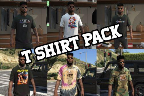 T Shirt Pack 1 (Supreme FW20, Scarface, Pulp Fiction, Balenciaga, Givenchy, Bape Marvel)