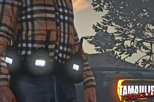 Tactical Belt with Walkie Talkie's 🍕 [SP/FIVE] MP MALE