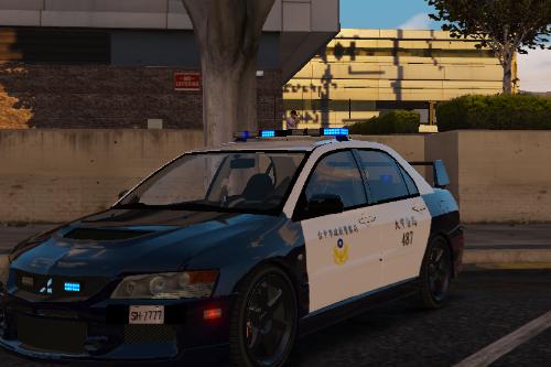 Taiwan Mitsubishi Lancer Police Car 台灣三菱警車