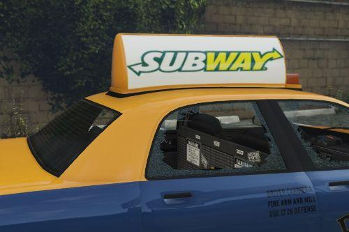 Fast Food Taxi Advertisements
