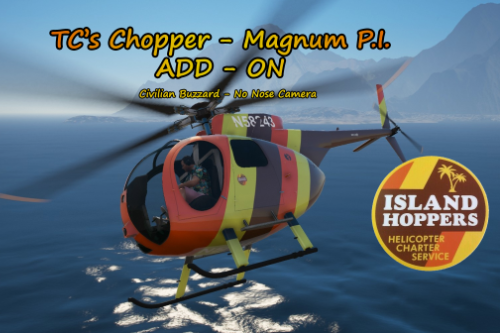 """TC's Chopper - Magnum P.I."" Civilian Vanilla Buzzard - No Nose Camera [Add-ON]"