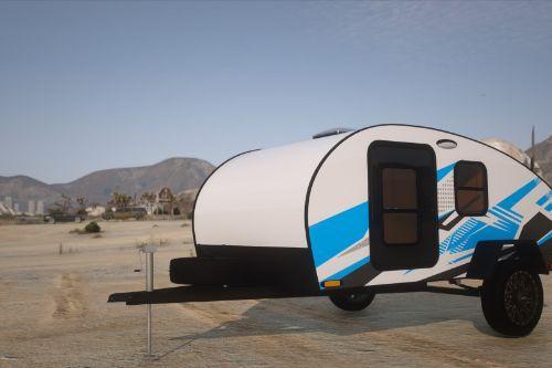 Teardrop Camper Trailer [Add-On / Fivem | Template | Extras ]