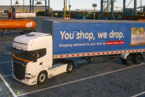 UK Lorries (uk, british, supermarket, tesco, home bargains)