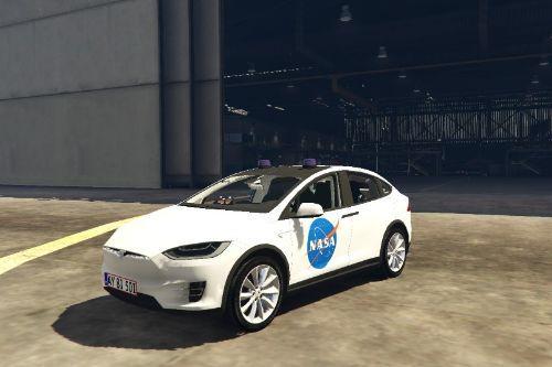 Tesla Model X NASA Paintjob