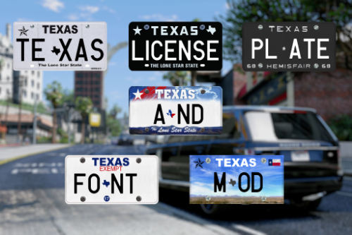 Texas License Plates and Real Font