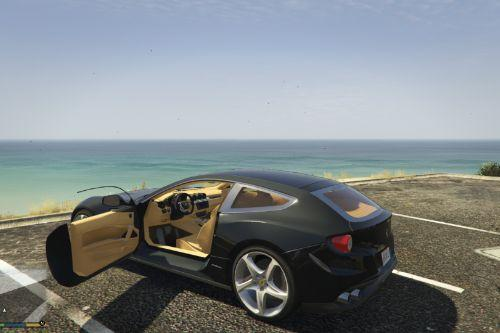 Gold Leather Ferrari FF Textures