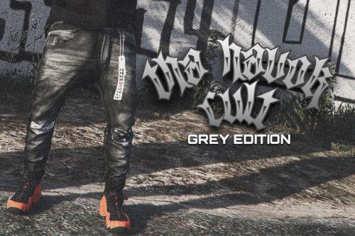 Tha Havok Cult: Grey Edition Sagged Jeans