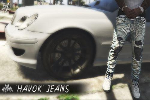 Tha Havok Cult Sagged Moto Jeans SP/MP