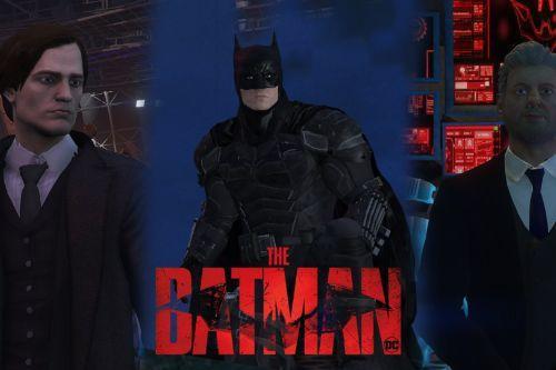 The Batman:2022 Set (Addon-Peds W/Cloth& Batmobile and bike).