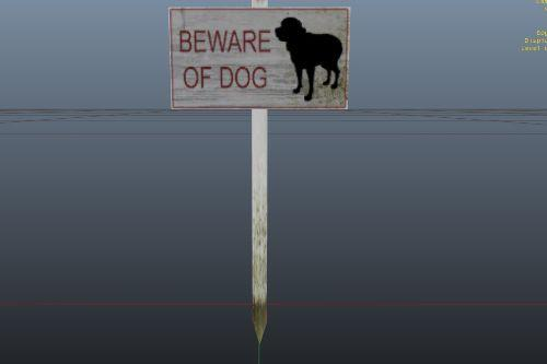 The Beware of Dog Sign