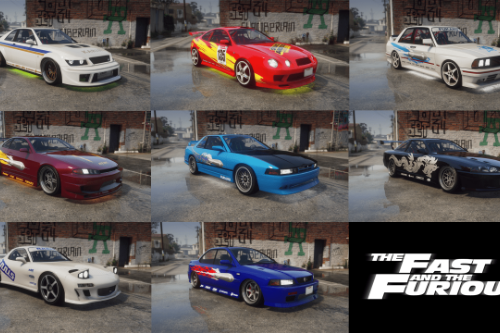 The Fast and The Furious Liveries Pack (Lore Friendly)