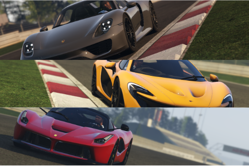 THE HOLY TRINITY Handling Pack [Ferrari LaFerrari, Mclaren P1, Porsche 918 Spyder Handling. ]