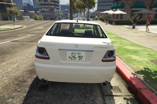 The Japanese license plate