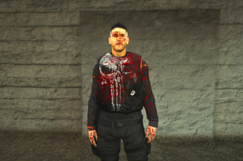 The Punisher Blood Retexture