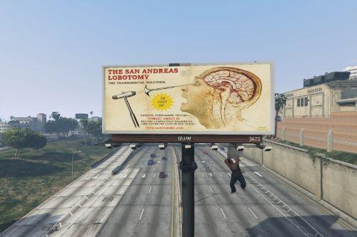 The San Andreas Lobotomy Billboard Ad