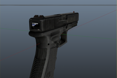 Thin Blue Line with custom sights GLOCK
