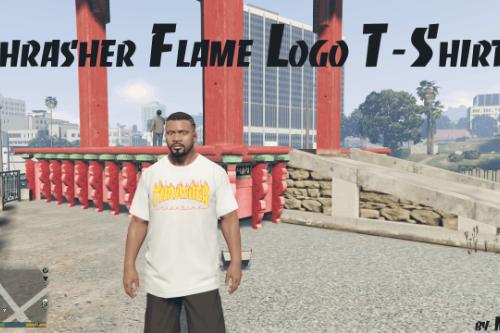 Thrasher Flame Logo T-Shirt for Franklin