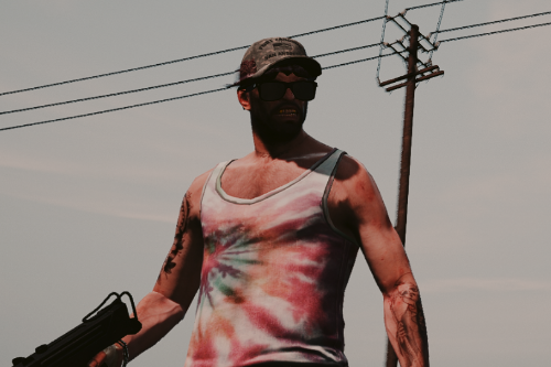 Faded Tie-Dye Tank Top for Trevor