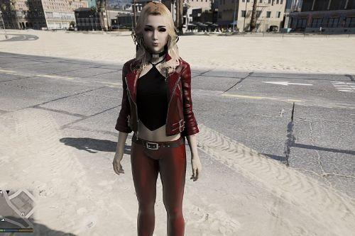 Tifa Lockhart Custom Casual Leather pants and Makeup [Add-On Ped | Retextured ]