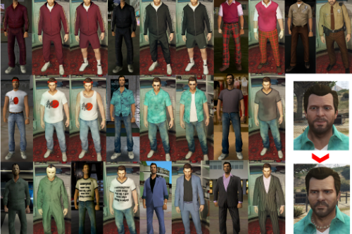 Tommy Vercetti Skins (VC) Pack for Michael