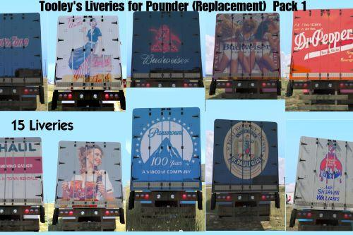 Tooley's Liveries for Pounder (Replacement) Pack 1