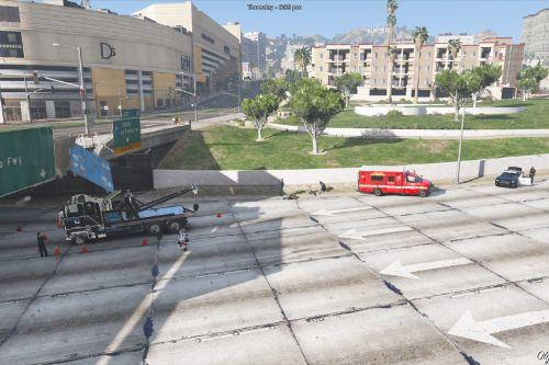 Tow Truck Crash Scene (Menyoo)