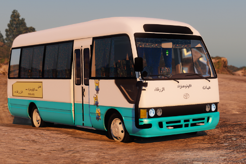 Toyota Coaster Bus Jordanian Paints [Replace] + [New Horn]