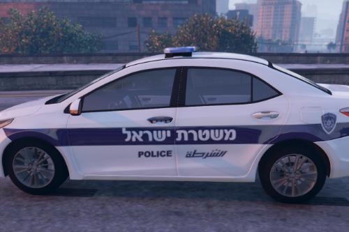 Toyota corolla 2016 - טויוטה קורולה משטרת ישראל