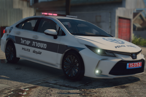 Toyota Corolla 2020 | [ Add-On / Replace / Fivem Ready ] [ Template ] Israeli police car